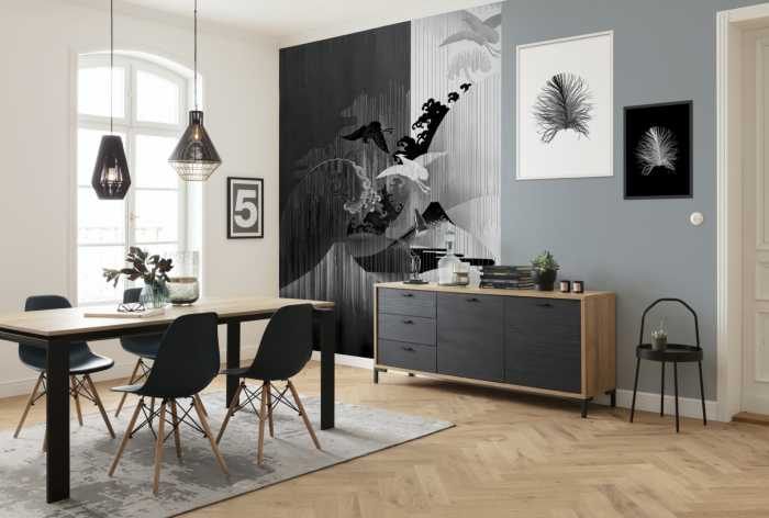 Digital wallpaper Yin Yang