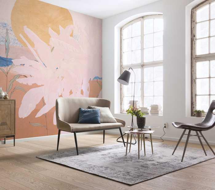 Digital wallpaper Platanos Pink