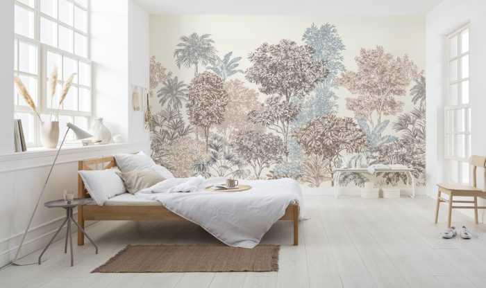 Digital wallpaper Painted Trees