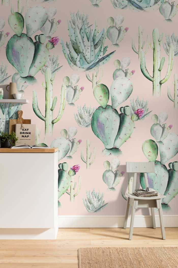 Digital wallpaper Cactus Rose