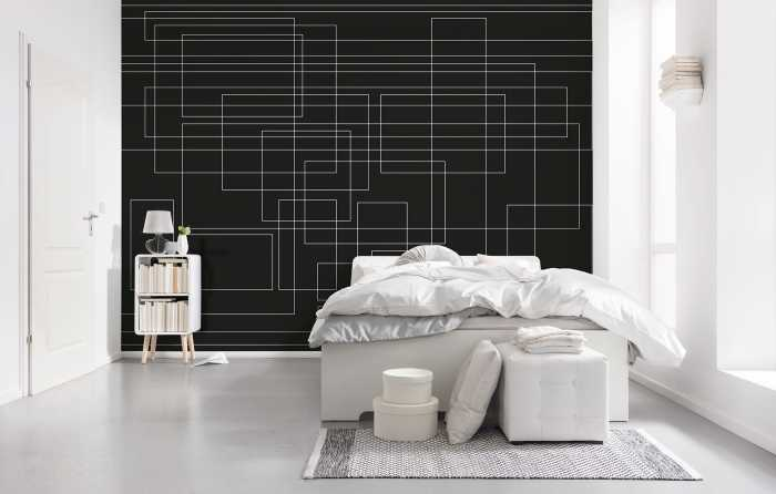 Digital wallpaper Mills Board Mondial