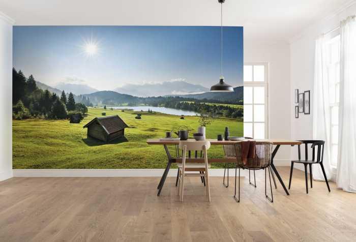 Digital wallpaper Bergwiese vor Karwendel