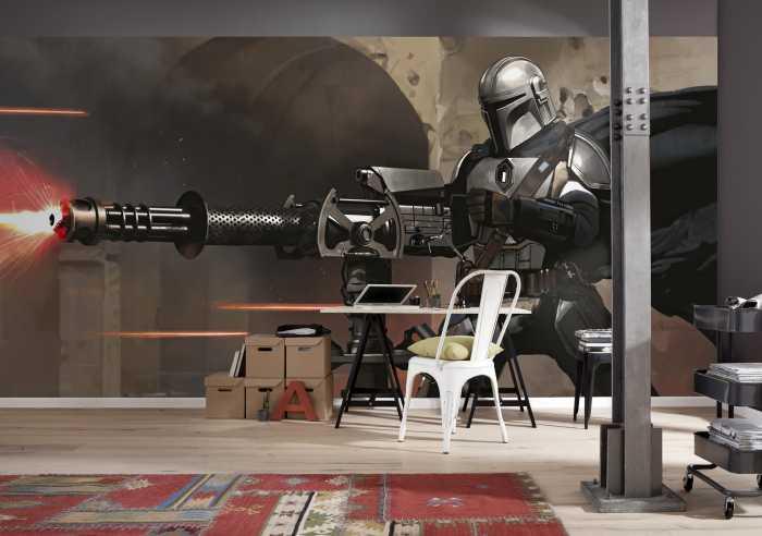 Digital wallpaper Star Wars The Mandalorian Blaster
