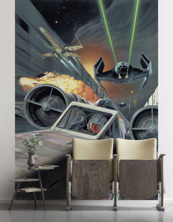 Digital wallpaper Star Wars Classic Death Star Trench Run
