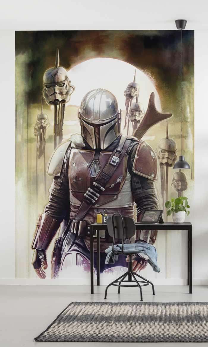 Digital wallpaper Star Wars The Mandalorian Big Impaler