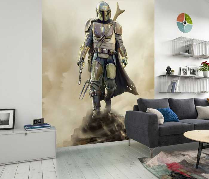 Digital wallpaper Star Wars The Mandalorian The Hunter