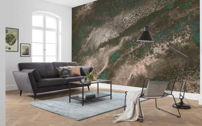Digital wallpaper Molten Copper