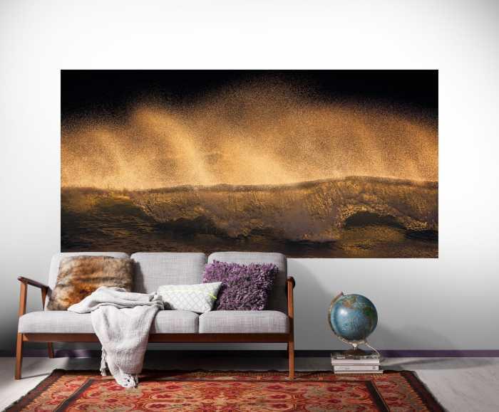 Panel Golden Wave