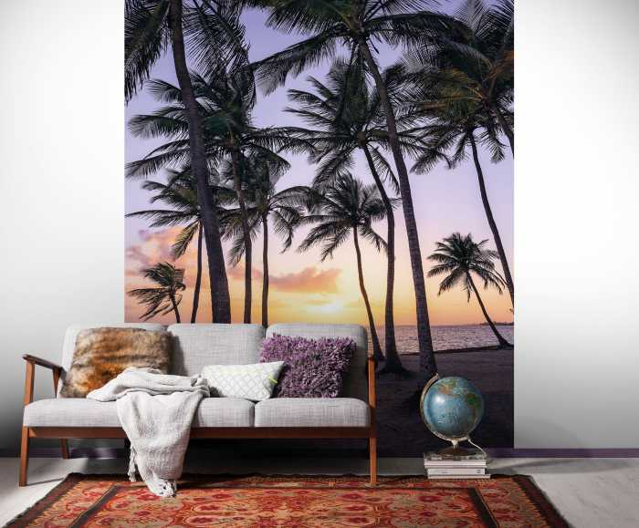 Digital wallpaper Palmtrees on Beach