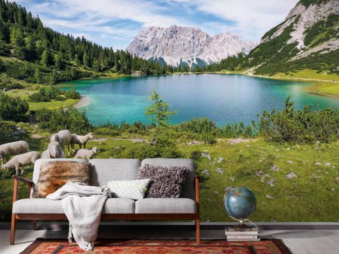 Digital wallpaper Paradise Lake