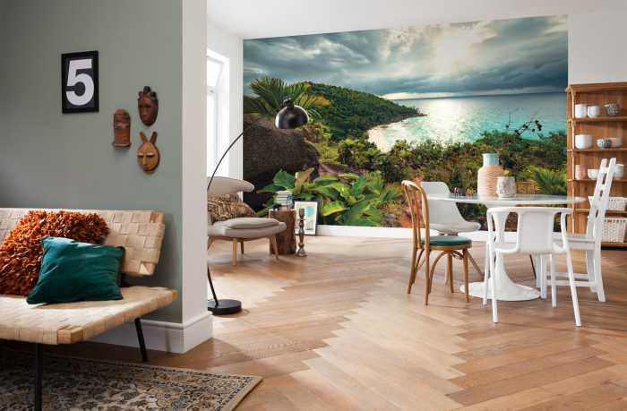 Digital wallpaper Garten der Versuchung