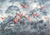 Flamingos in the Sky