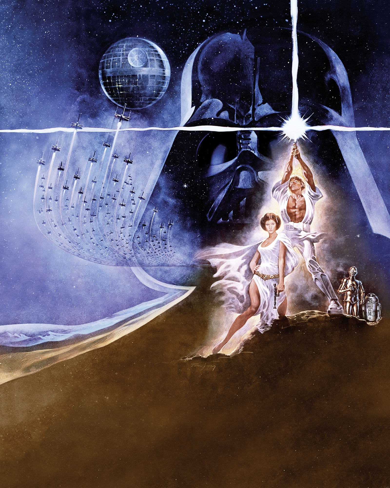 Non Woven Photomural Quot Star Wars Poster Classic 2 Quot From