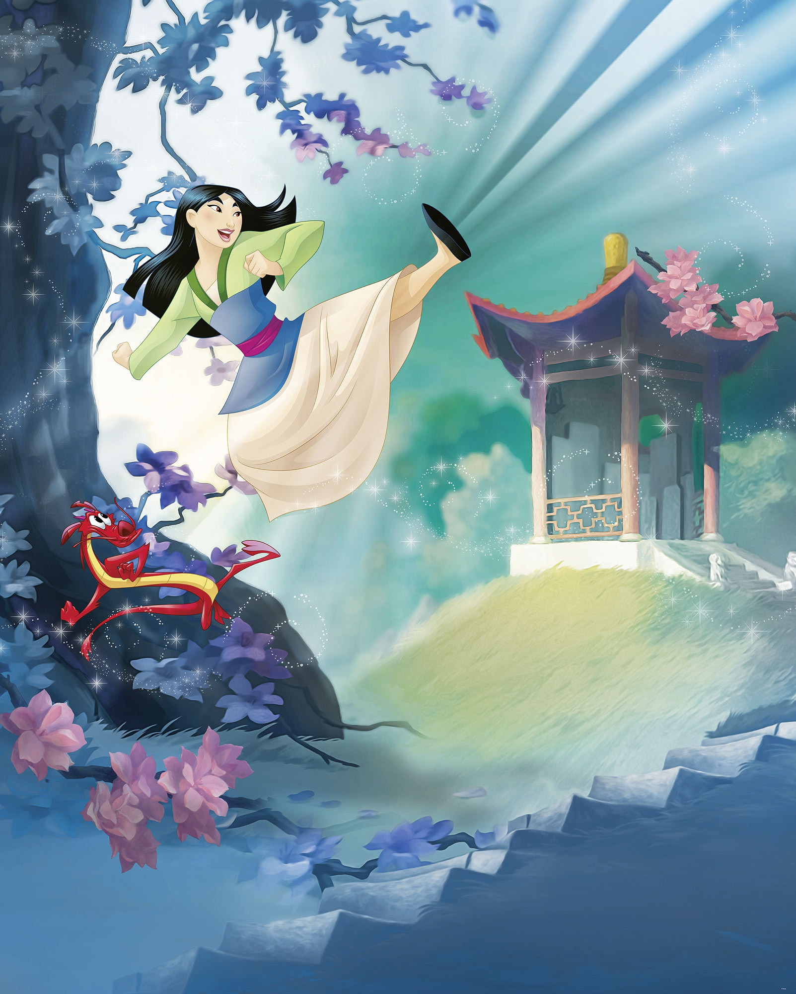 Non Woven Photomural Quot Mulan Quot From Disney Photomural Com