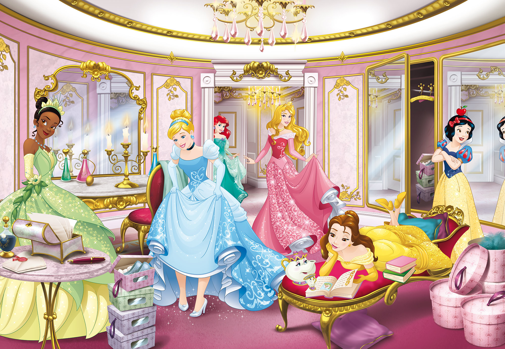 Photomural Disney Princess Mirror 8 4108 From Disney