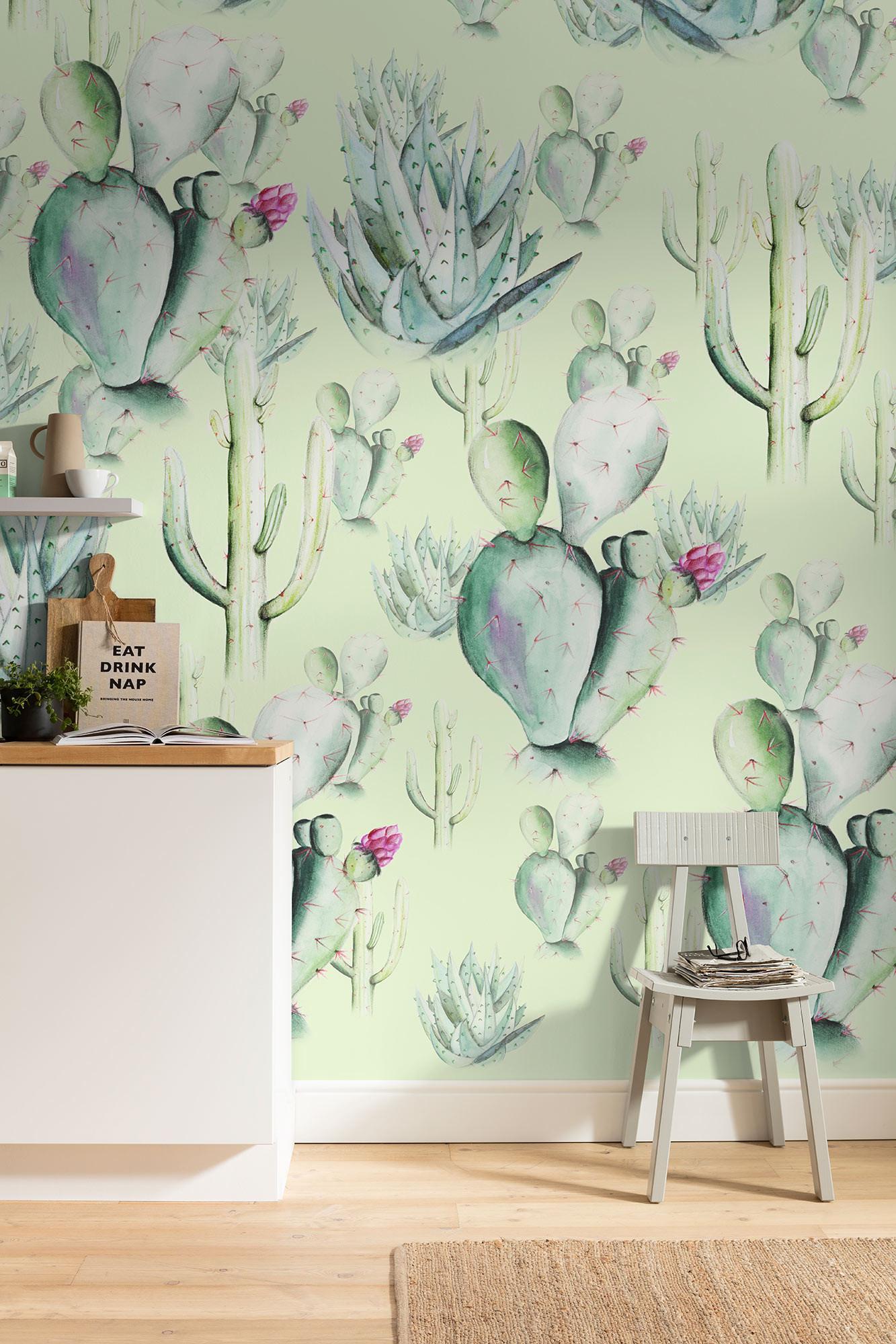 Digital wallpaper. Cactus Green