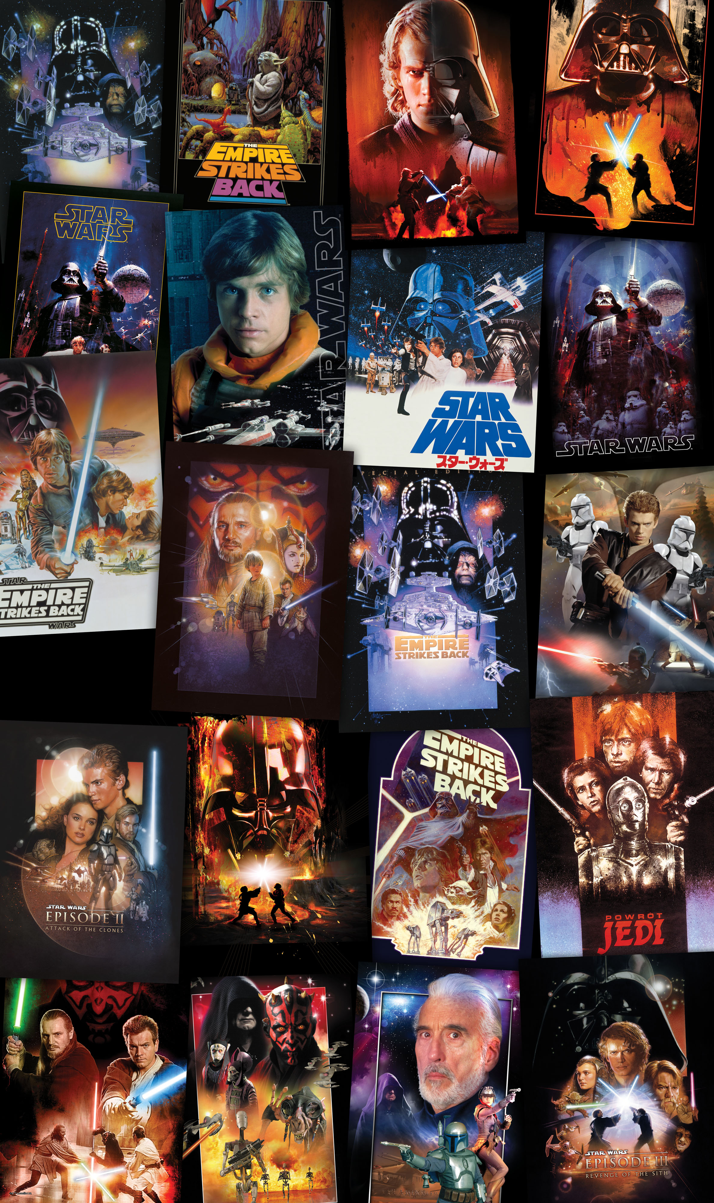 panel  u0026quot star wars posters collage u0026quot  from komar