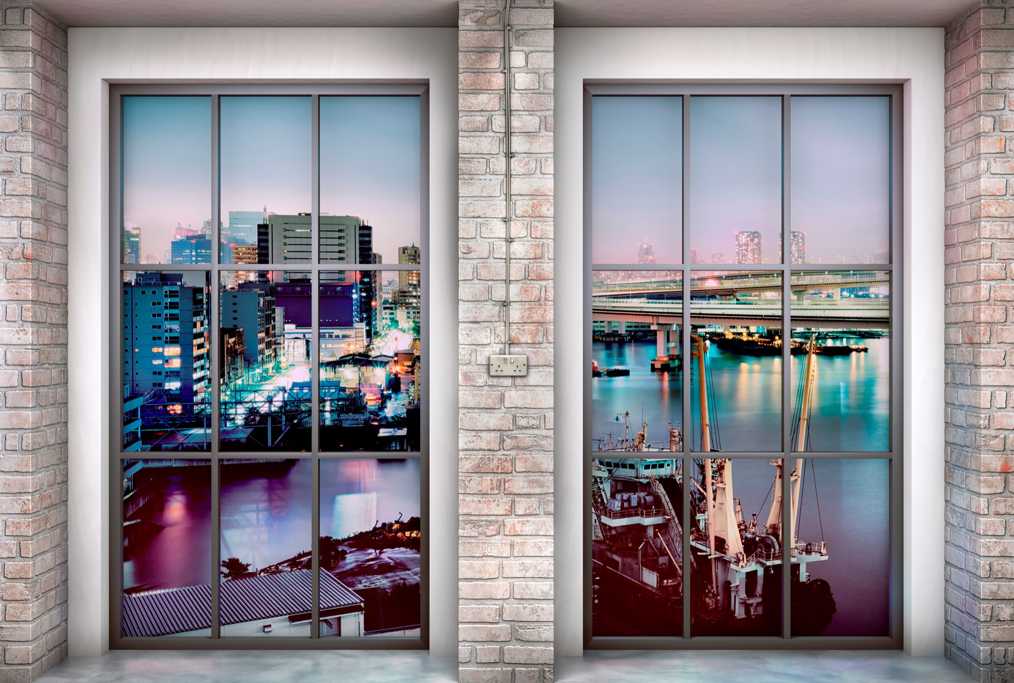 Fenster Loft non woven photomural loft from komar photomural com