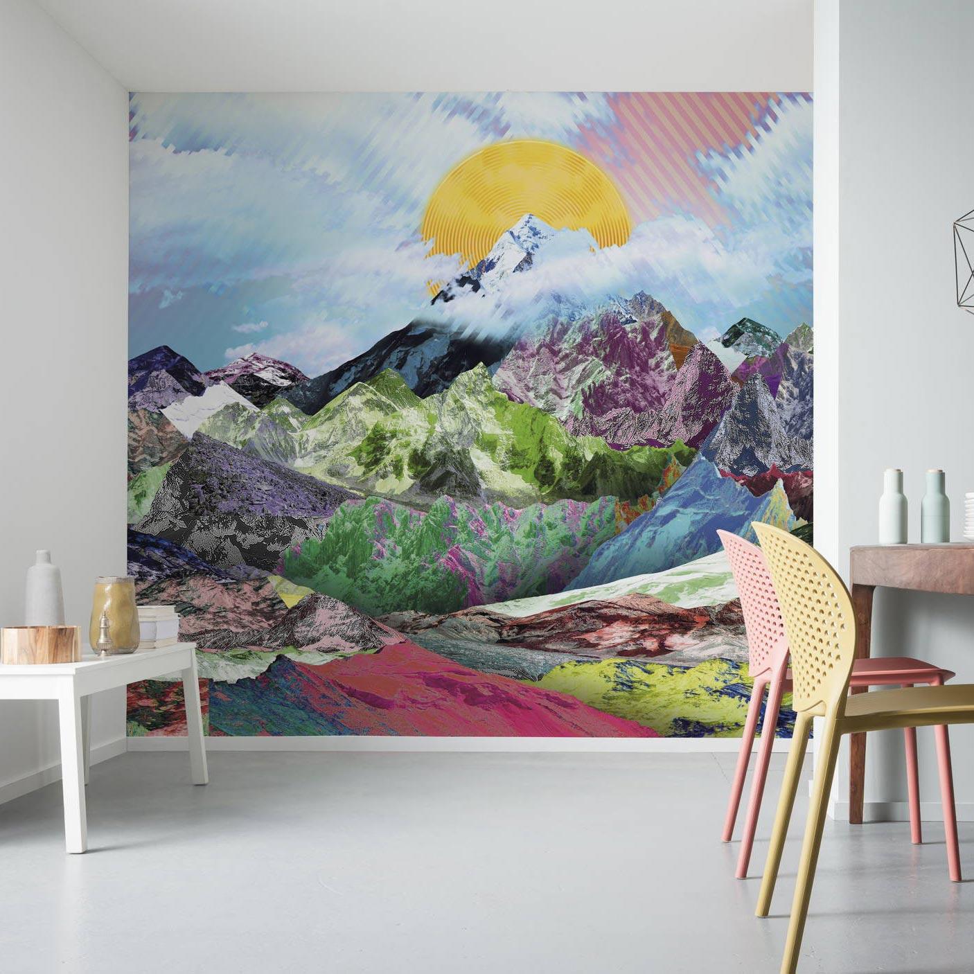 blog modern wall design through photomurals peaks mountain top blue mountain