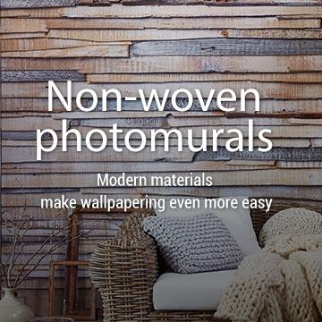 Non-woven photomurals